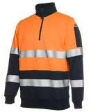 6HZFS JBs Hi Vis (Day & Night) 1/2 Zip Fleecy Sweat