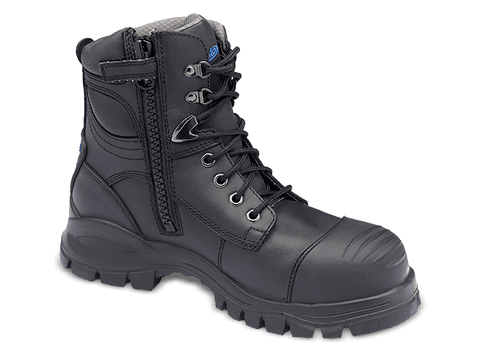 997 Blundstone Zip Sided Lace Up 150mm Ankle Steel Toe Bump Cap - Safety Boot