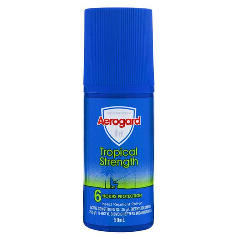 Aerogard Tropical Strength Roll On 50ml AER009