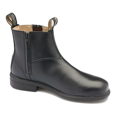 783 Black Full Grain Leather Zip Side Safety Boot