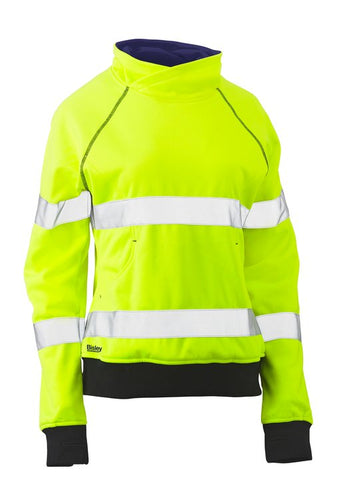 Bisley Womens Hi Vis Taped Fleece Jumper BKL6818T