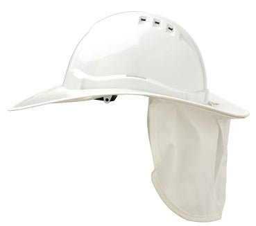 V6PB-White Shade Halo Hard Hat Brim Plastic