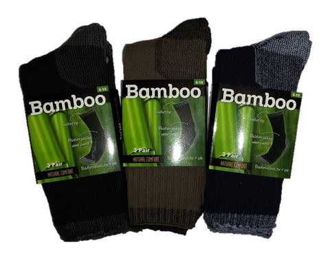 Bamboo Socks with Reinforced Heel, Toe and Sole (3 Pack)