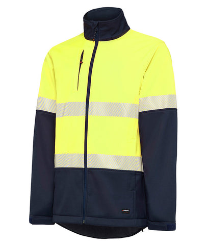 King Gee Hi Vis Softshell Jacket with Tape K05002