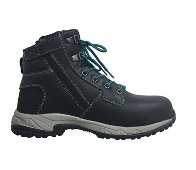 K27360 King Gee Ladies Zip Sided Lace Up Composite Toe - Safety Boot