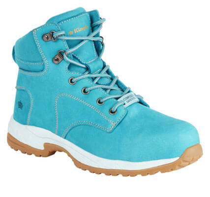 K27370 King Gee Ladies Teal Zip Sided Lace Up Composite Toe - Safety Boot