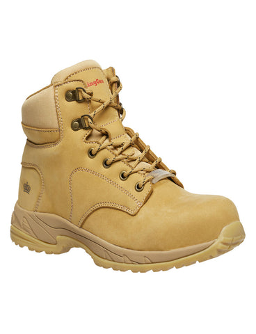 K27380 Ladies Tradie Lace Up Zip sided boot