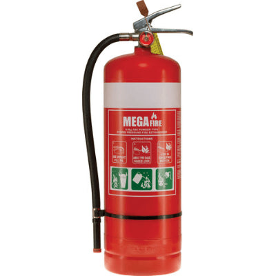 9.0kg ABE Extinguisher c/w Wall Bracket