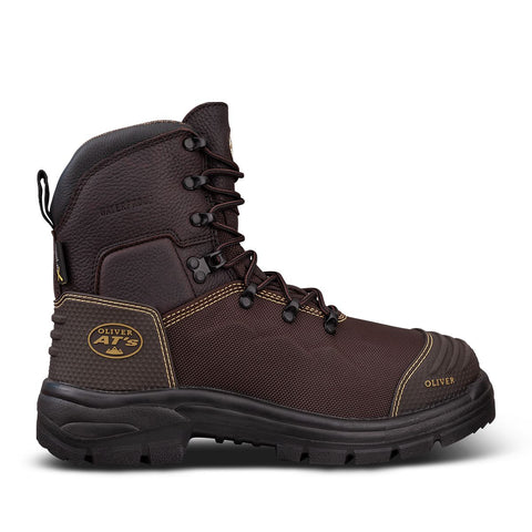 65490 Oliver Lace Up 150mm Caustic, 100% Waterproof Steel Toe - Safety Boot