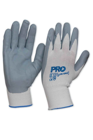 NNF8 Synthetic Gloves Lite Grip Nitrile Foam On Nylon Liner