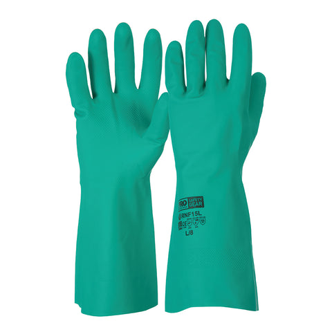 Pro Choice Green Nitrile Glove 33cm RNF15