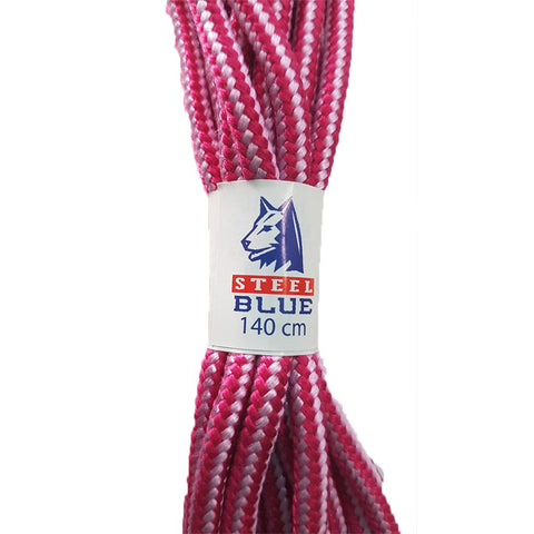 Steel Blue Boot Laces Pink/Lilac 140cm