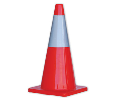 TC700R Orange Traffic Cone Wth Reflective Tape 700mm