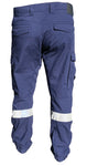 Y02340 Hard Yakka 3056 Ripstop Stretch Utility Cuffed Pant with Reflective Tape