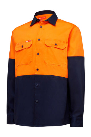 Hard Yakka Core Hi Vis L/S Cotton Drill Shirt Y04605