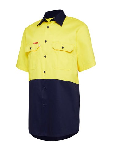 Hard Yakka Core Hi Vis Cotton Drill Lightweight S/S Shirt Y04620