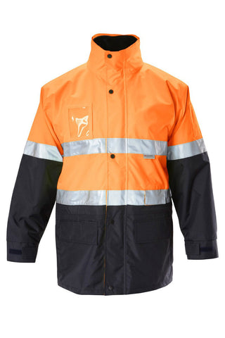 Hard Yakka Hi Vis 6 in 1 Jacket with Tape Y06556