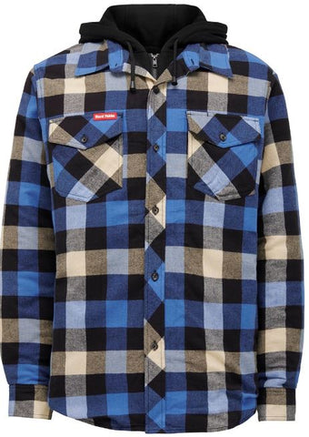 Hard Yakka Quilted Flannel Check Shacket Y06690