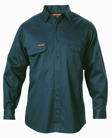 Y07500 Hard Yakka Cotton Drill Long Sleeve Shirt