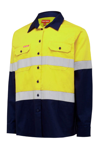 Hard Yakka Ladies Core Hi Vis L/S Lightweight Shirt with Tape Y08805