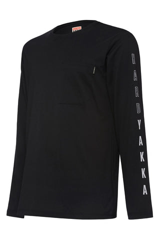 Y11615 Hard Yakka 3056 Long Sleeve Graphic Tee Shirt