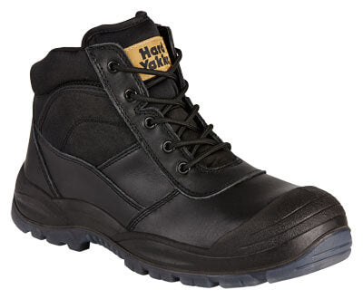 Y60125 Hard Yakka Zip Sided Lace Up Steel Toe Bump Cap - Safety Boot