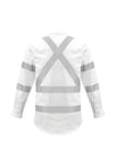 Syzmik Night White X Back Taped Cotton Shirt ZW621