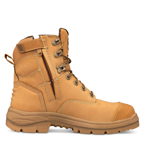 55332Z Oliver Zip Sided Lace Up 150mm Steel Toe Bump Cap - Safety Boot
