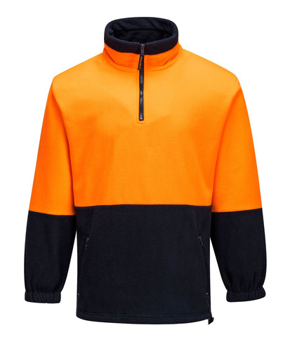 Prime Mover Hi Vis 2 Tone 1/4 Zip Fleece Jumper MF115