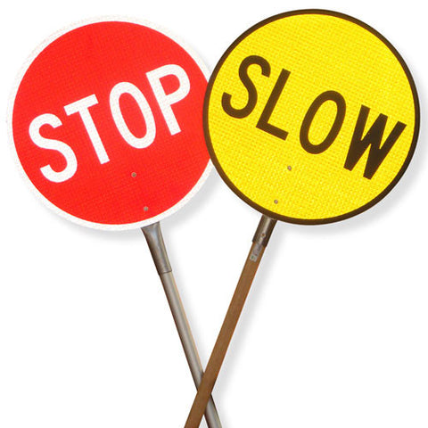 Stop/Slow Batten w/Wooden Handle