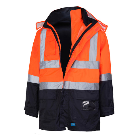8552 RainBird Hi Vis Utility 4 In 1 Jacket