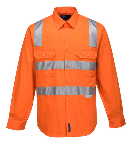 Prime Mover Hi Vis L/S Shirt with Tape MS191