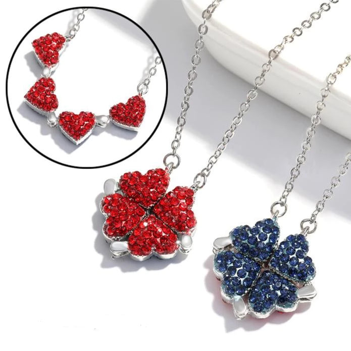Double-sided Silver Clover Necklace ( S925 )