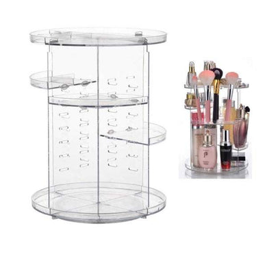 Transparent Rotating Cosmetic Storage Box