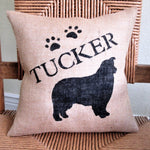 Australian Shepard Personalized Burlap Pillow
