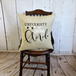 University of Central Florida Burlap Pillow/cover