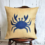 Beach Crab Pillow