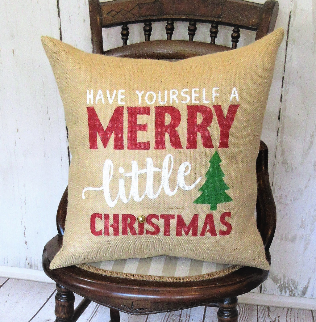 Merry Little Christmas Pillow
