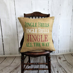 Jingle Bells, Jingle all the way Burlap pillow