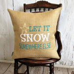 Let it Snow  Burlap Coastal Christmas Pillow
