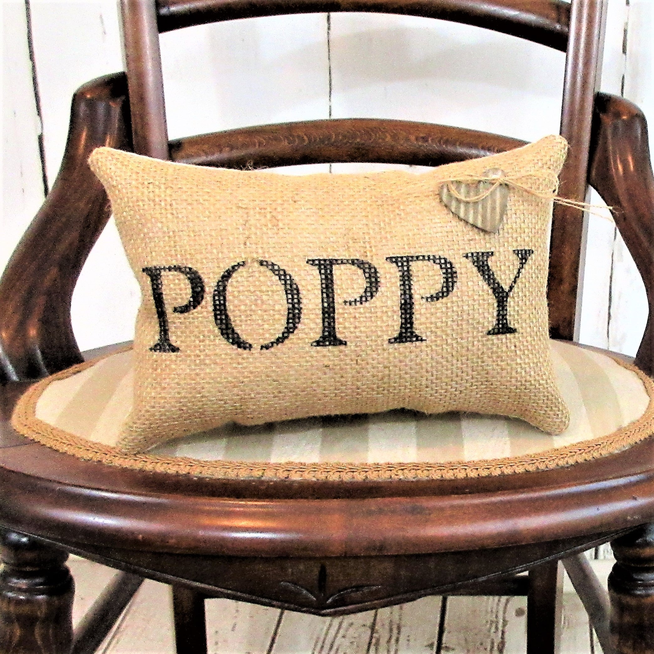 Personalized Papa Burlap Pillow