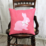 Easter bunny pink pillow