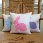Pastel Easter Bunny Burlap Pillow