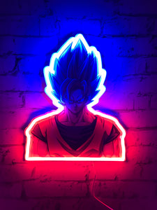 Dragon Ball Z Super Saiyan Goku Lampe Murale LED