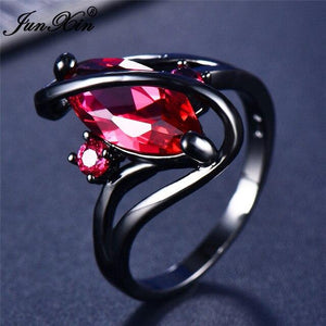112 Color Mystery Rainbow Ring BQ Emporium 10 Rose Red