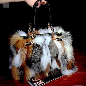 Gantavarlo Women's Faux Fur Bag