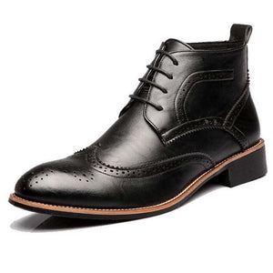 Brogue-Design Bullock Leather Boots