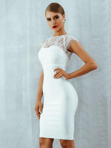 Image of Charlize – Bandage Lace Dress dress BQ Emporium