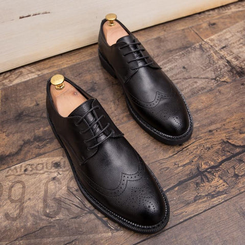Image of Classic Brogue Luxury Leather Shoe shoes BQ Emporium