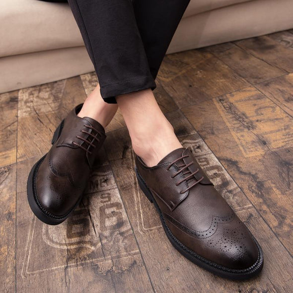 Classic Brogue Luxury Leather Shoe shoes BQ Emporium
